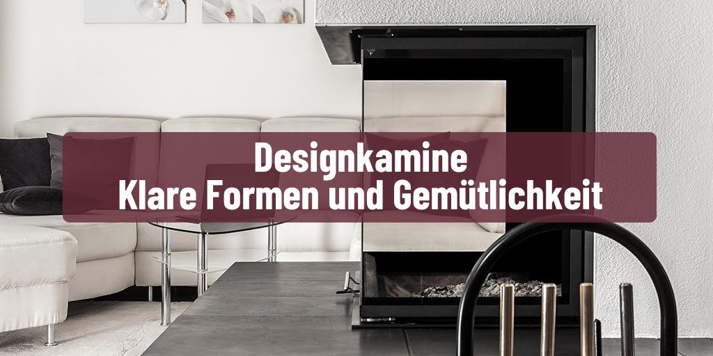 Designkamine: Klare Formen und Gemütlichkeit