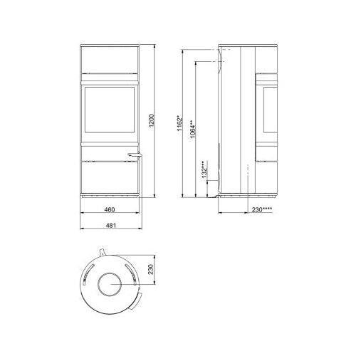 kaminofen scan 83 2 griff und leisten alu 5 kw rlu. Black Bedroom Furniture Sets. Home Design Ideas