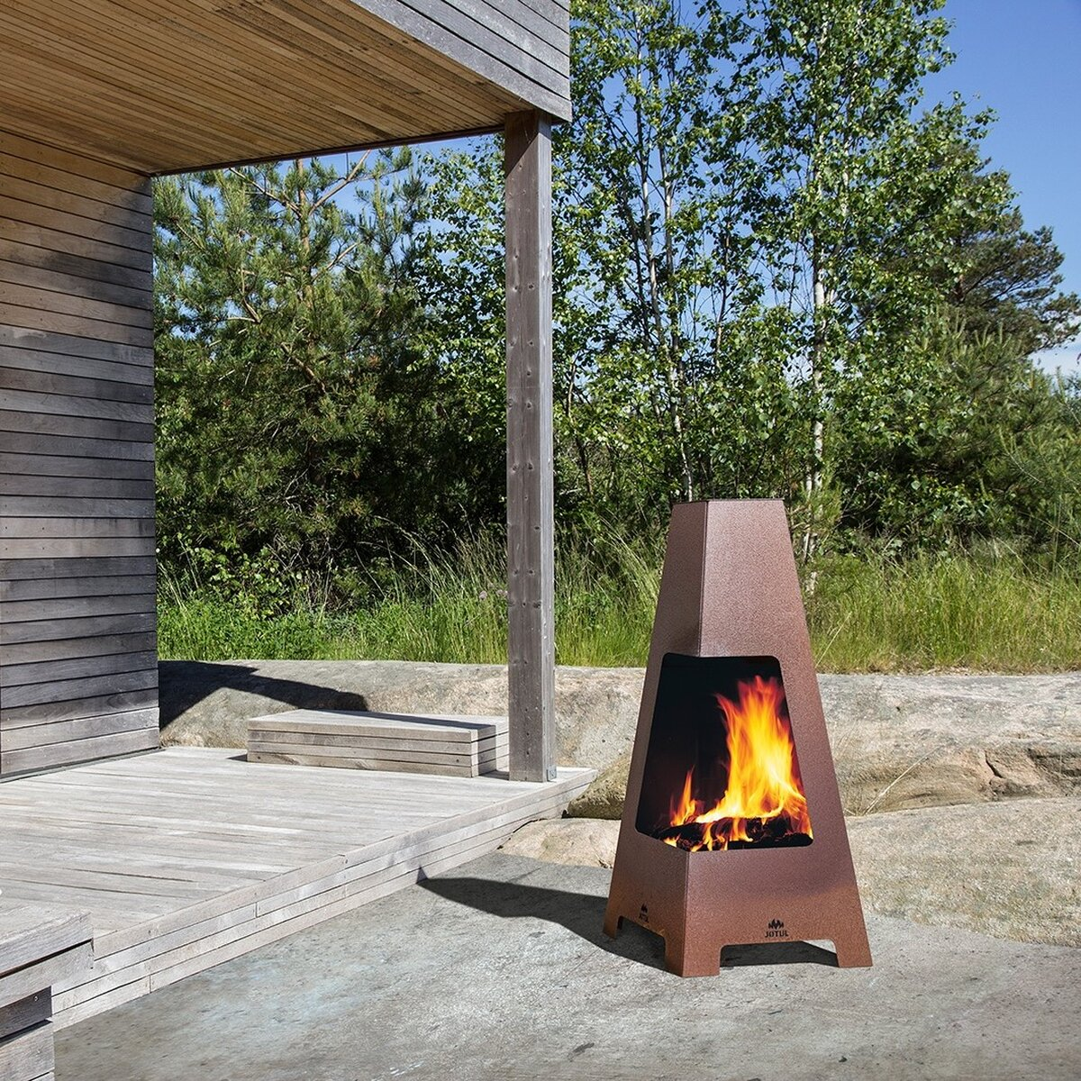 au enkamin outdoor jotul terrazza. Black Bedroom Furniture Sets. Home Design Ideas