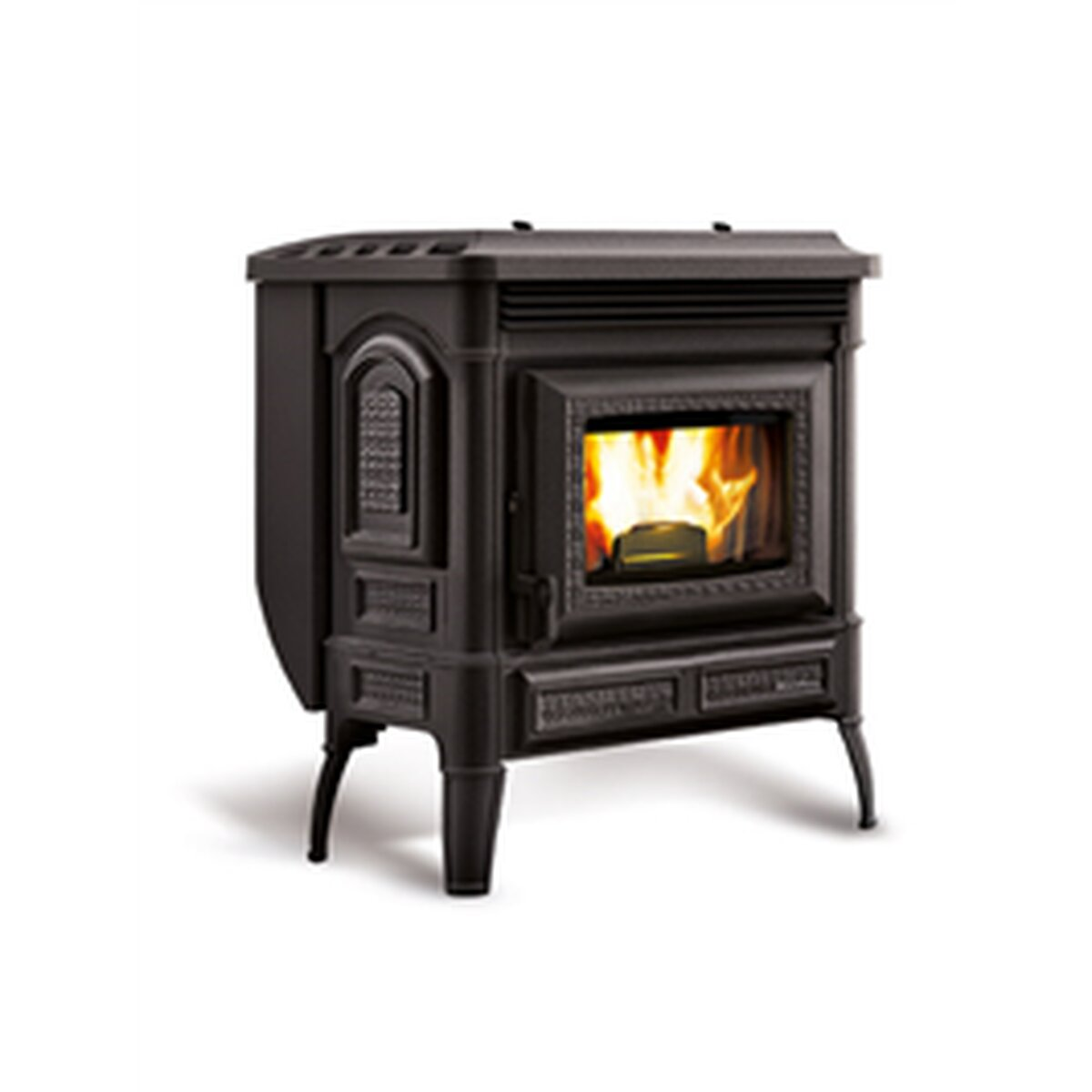 la nordica extraflame teodora gusseisen kaufen feuer fuchs von extraflame s p. Black Bedroom Furniture Sets. Home Design Ideas