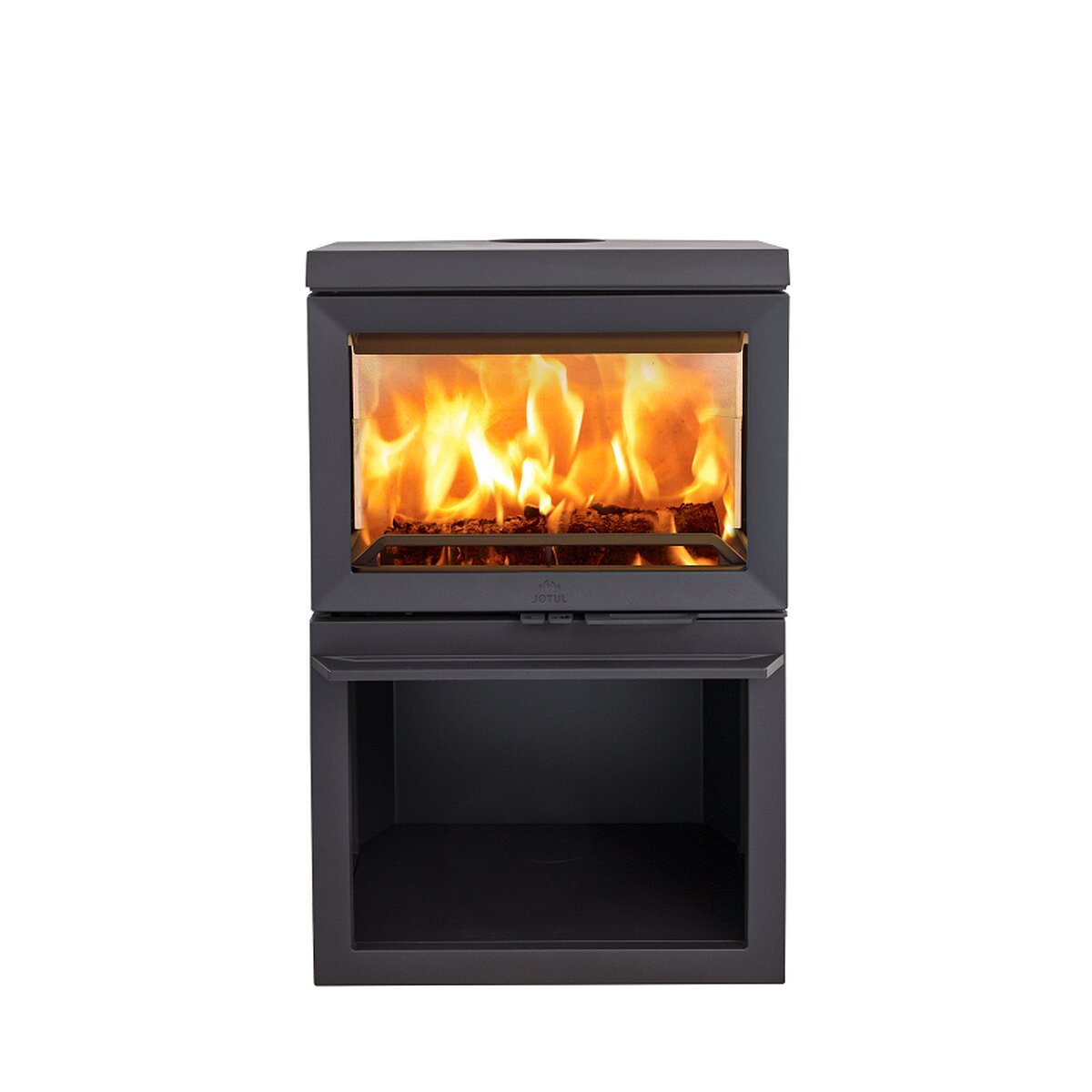 kaminofen gussofen jotul f 520 mit i 520 einsatz 3 scheiben 7 kw von jotul a s. Black Bedroom Furniture Sets. Home Design Ideas