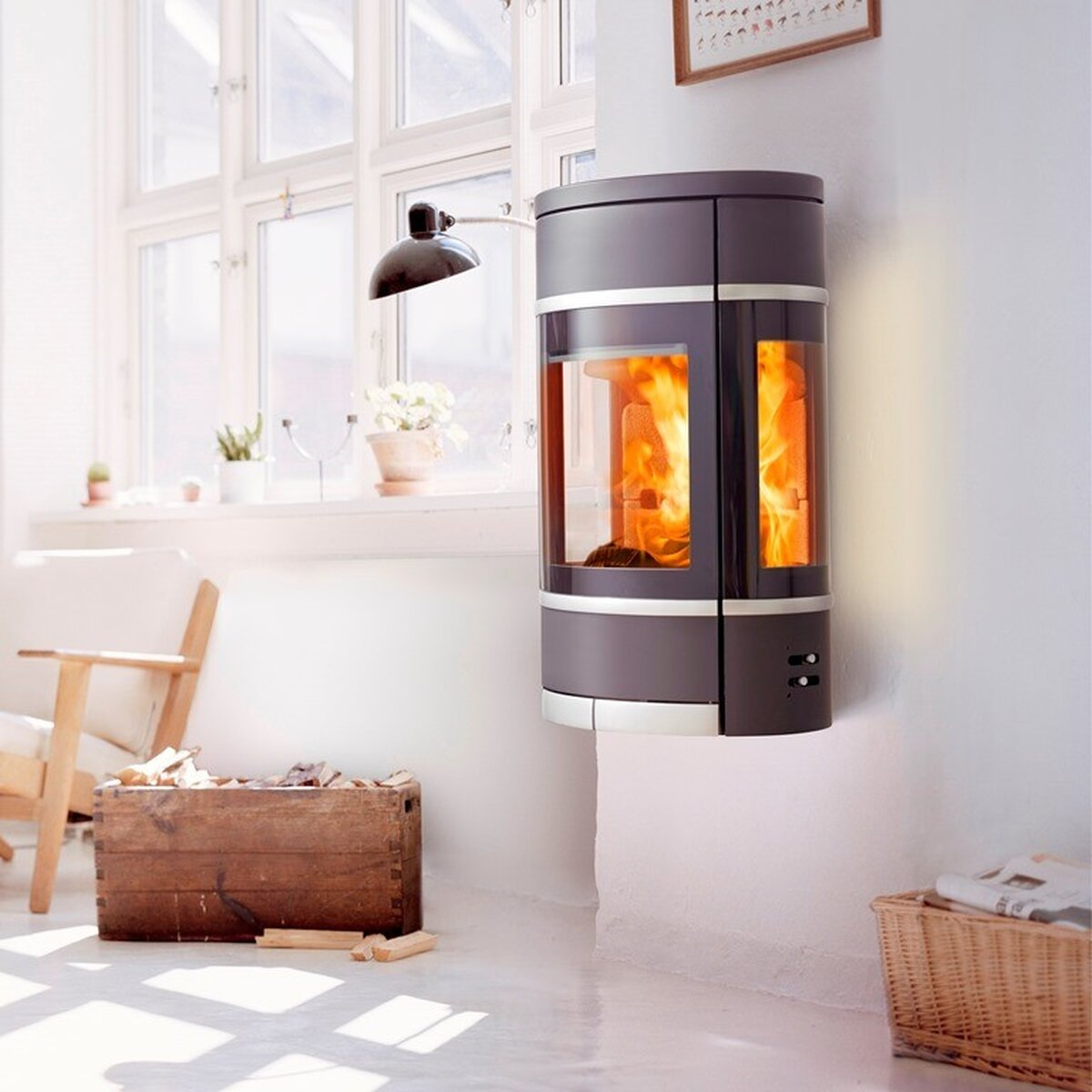 kaminofen scan 68 2 wall online kaufen feuer fuchs 2. Black Bedroom Furniture Sets. Home Design Ideas