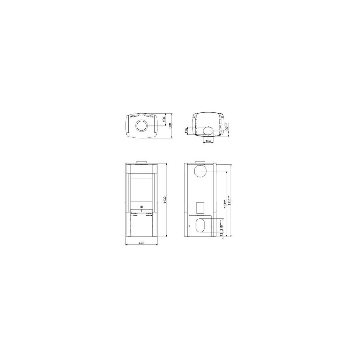 kaminofen scan 65 4 naturstein mit seitenfenster 6 kw. Black Bedroom Furniture Sets. Home Design Ideas
