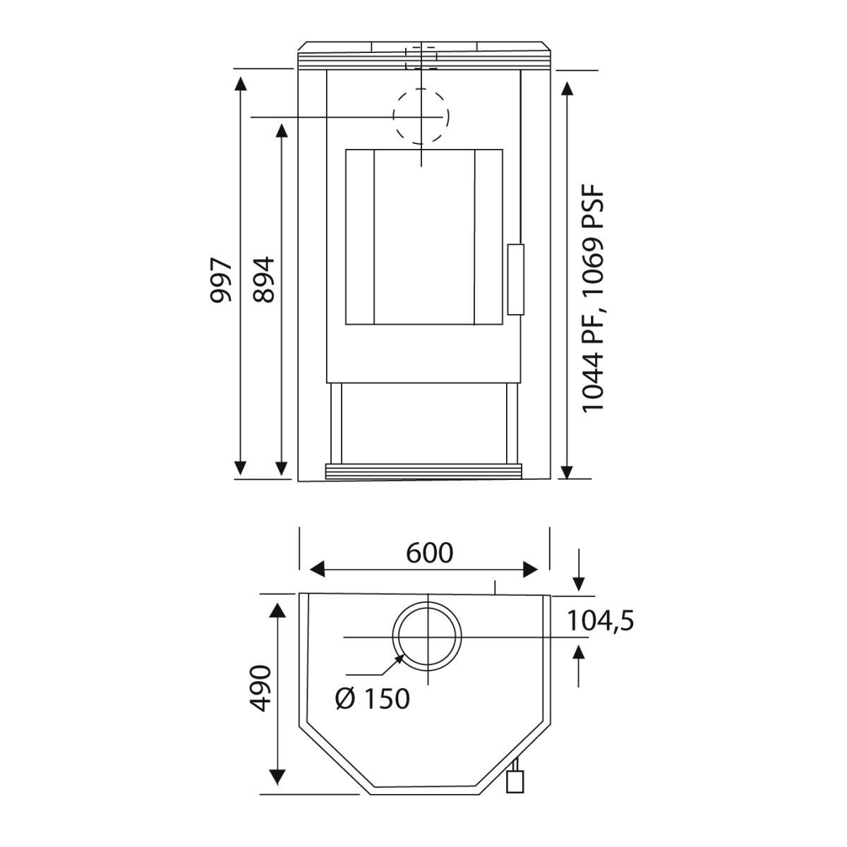 kaminofen wamsler kf101 prisma 8kw. Black Bedroom Furniture Sets. Home Design Ideas