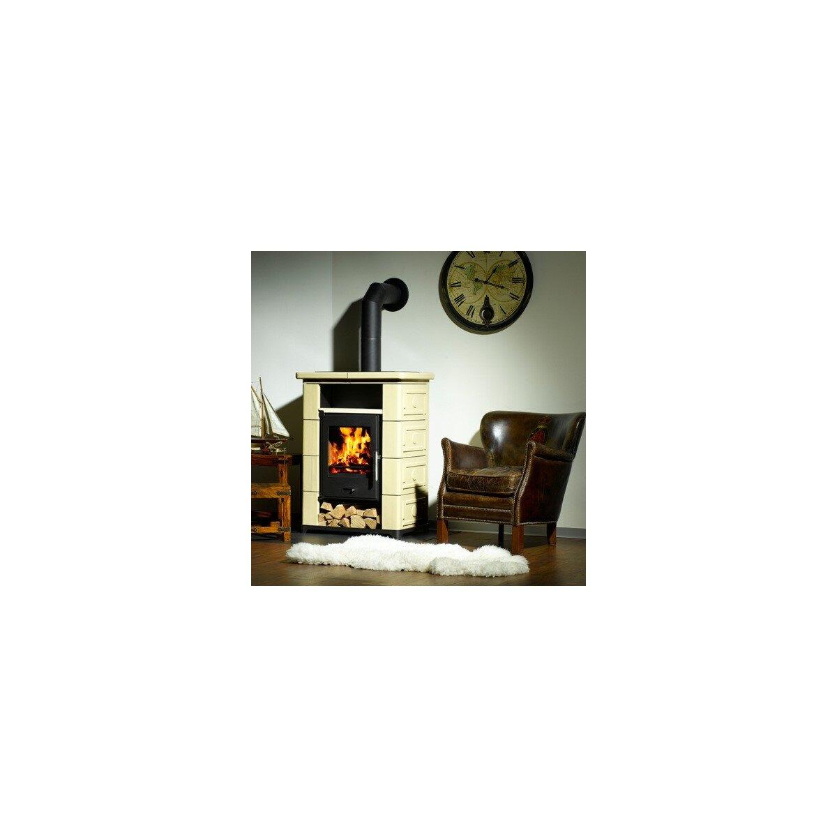 kaminofen wamsler montafon schwarz mit keramik beige 7kw 749 00 von wamsler mit beratung. Black Bedroom Furniture Sets. Home Design Ideas