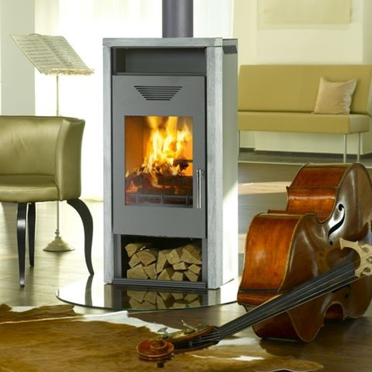 kaminofen wamsler kf111 yara 6kw. Black Bedroom Furniture Sets. Home Design Ideas