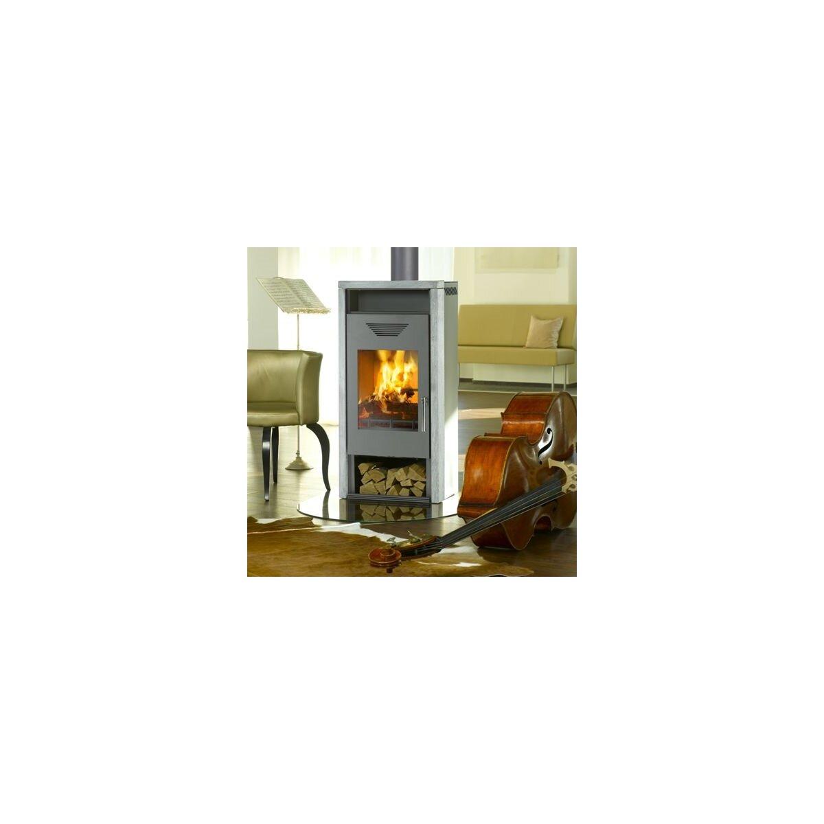 kaminofen wamsler yara gussgrau naturstein 6kw. Black Bedroom Furniture Sets. Home Design Ideas