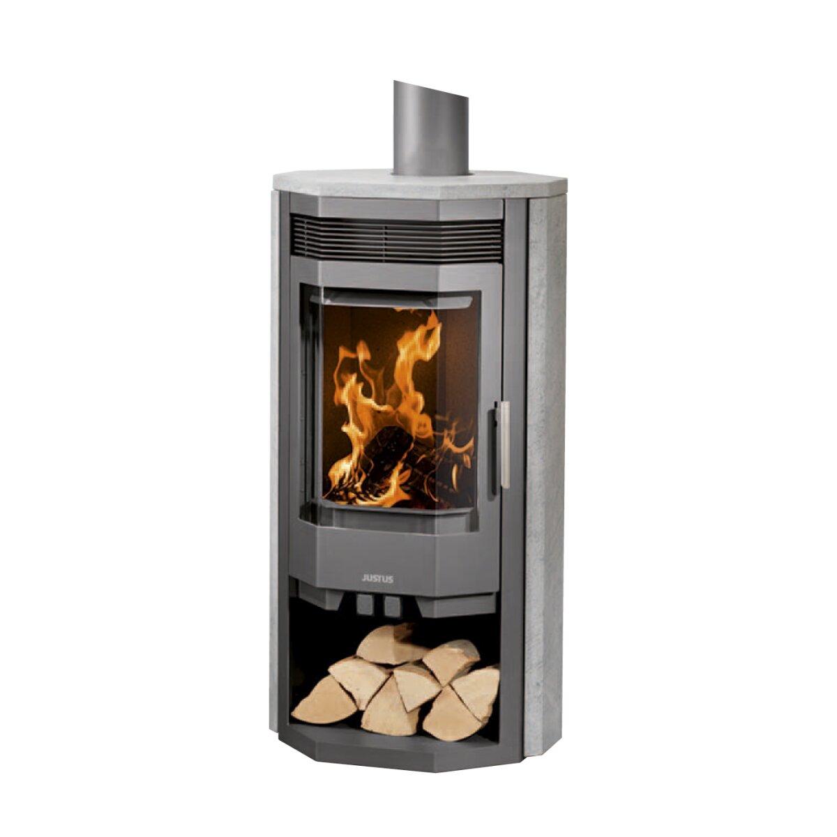 kaminofen justus usedom 7 speckstein stahl gussgrau 7 kw von justus mit beratung. Black Bedroom Furniture Sets. Home Design Ideas