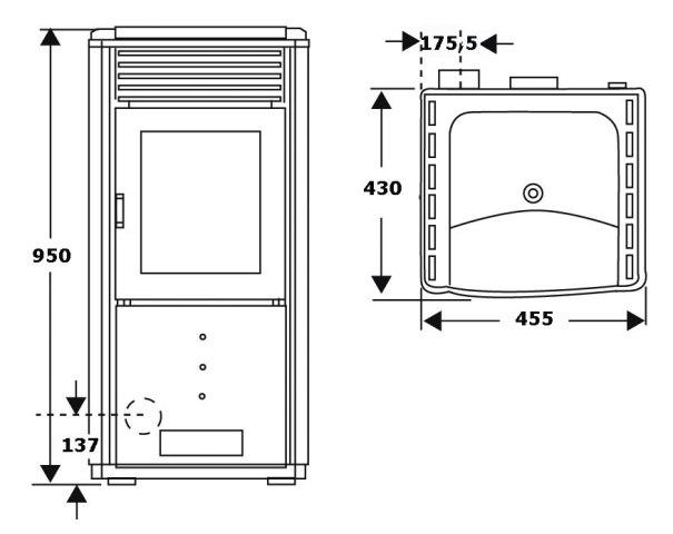 wamsler westminster pelletofen po 59 ii. Black Bedroom Furniture Sets. Home Design Ideas